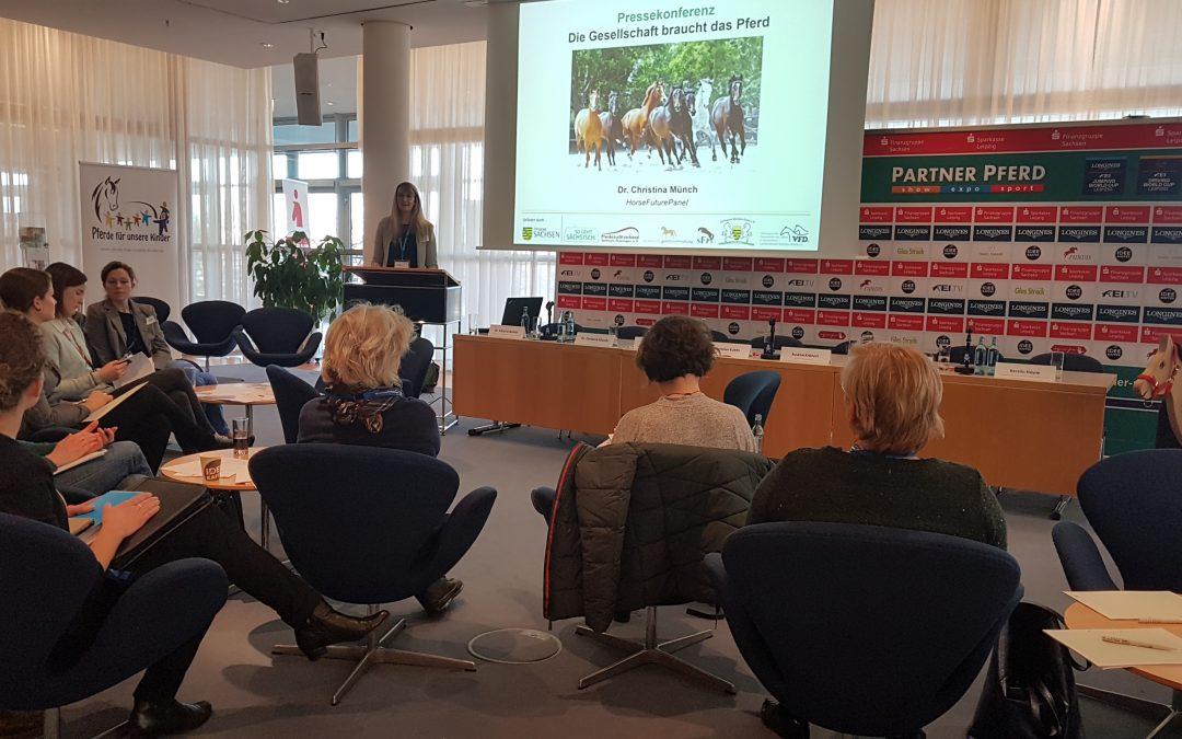 Pressekonferenz im Rahmen  der PARTNER PFERD in Leipzig