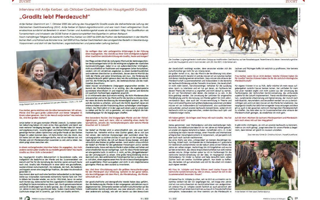 Pferdezucht: Interview mit Antje Kerber, neue Gestütsleiterin im Hauptgestüt Graditz
